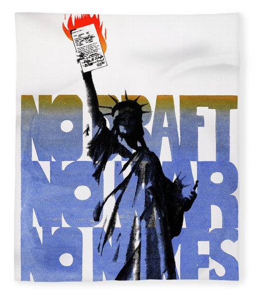 Poster Anti-war, C1975 Fleece Blanket