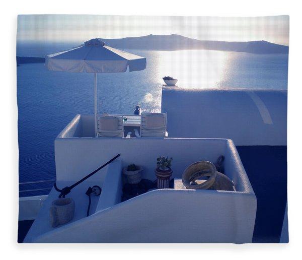 Fleece Blanket featuring the photograph Santorini Island Greece by Colette V Hera  Guggenheim