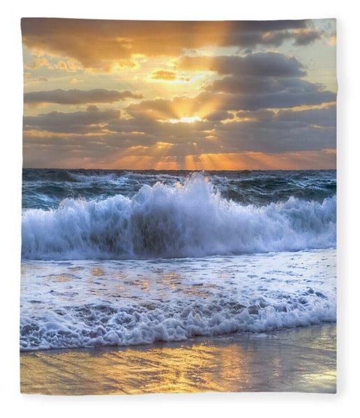 Splash Sunrise Fleece Blanket