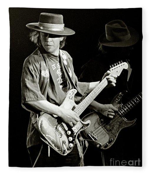 Stevie Ray Vaughan 1984 Fleece Blanket