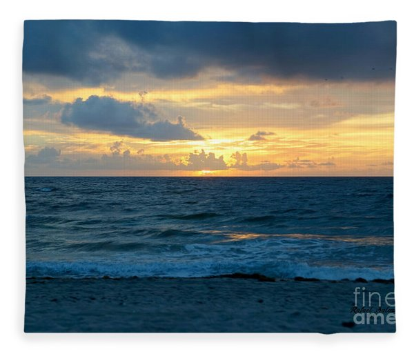 Sunrise In Deerfield Beach Fleece Blanket
