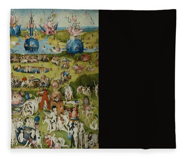 The Garden Of Earthly Delights Fleece Blanket