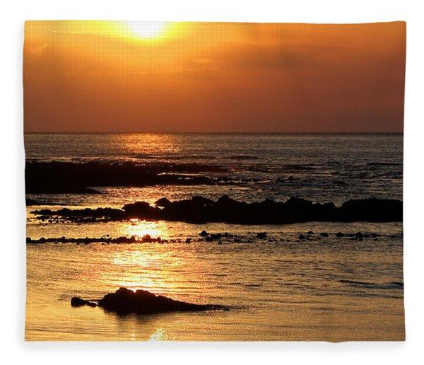 Waikoloa Sunset Fleece Blanket