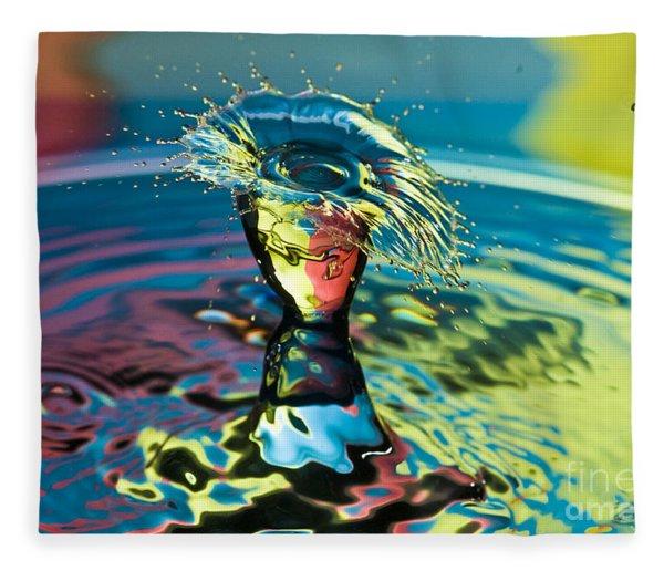 Water Splash Having A Bad Hair Day Fleece Blanket