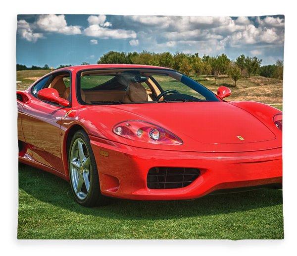 2001 Ferrari 360 Modena Fleece Blanket