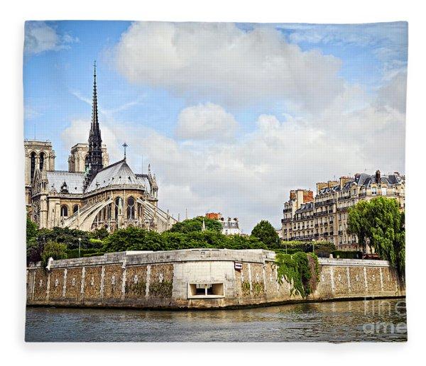 Notre Dame De Paris Fleece Blanket