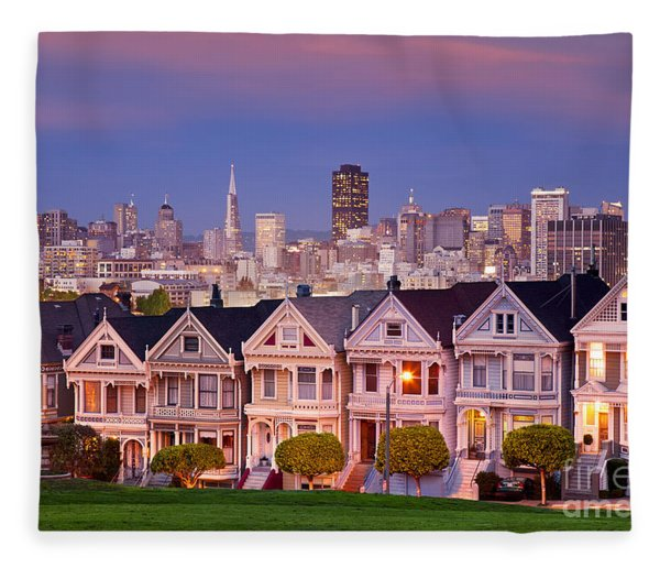 Fleece Blanket featuring the photograph Painted Ladies by Brian Jannsen
