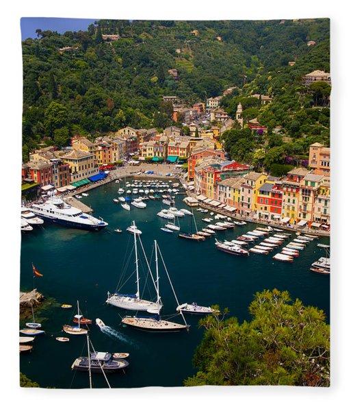 Fleece Blanket featuring the photograph Portofino by Brian Jannsen