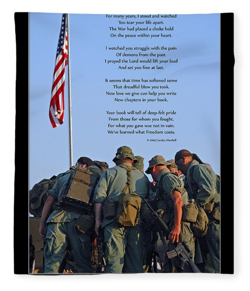 Fleece Blanket featuring the photograph Veterans Remember by Carolyn Marshall