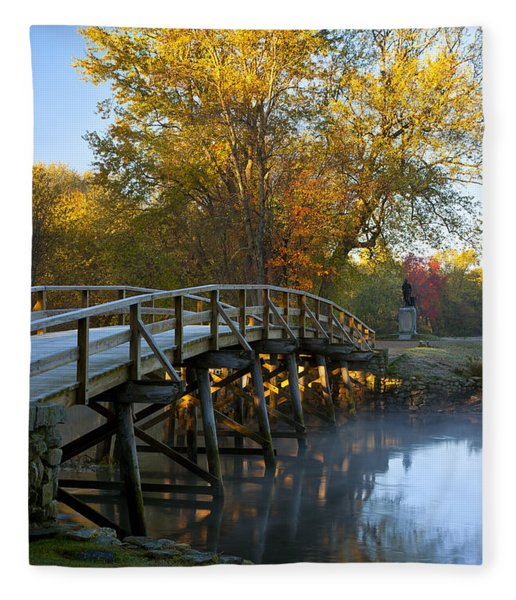 Fleece Blanket featuring the photograph Old North Bridge Concord by Brian Jannsen