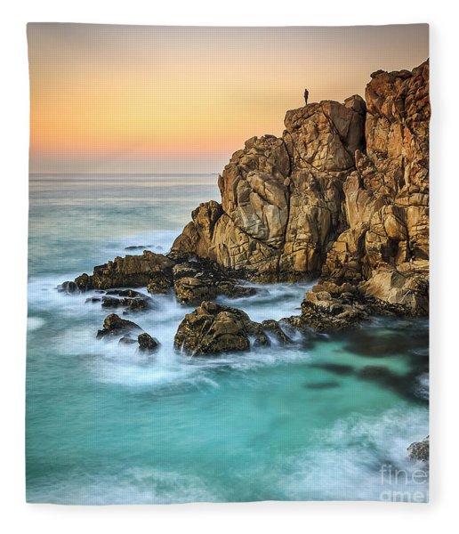 Penencia Point Galicia Spain Fleece Blanket