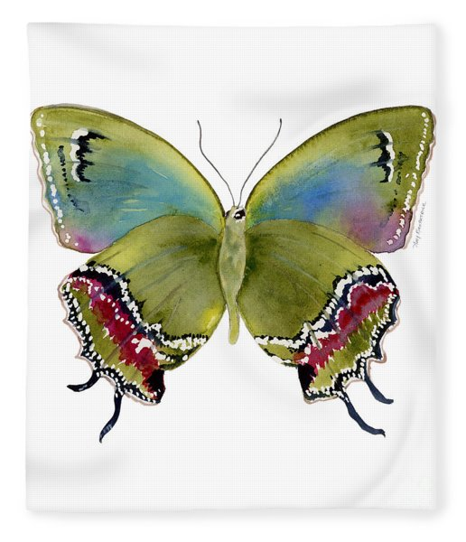 46 Evenus Teresina Butterfly Fleece Blanket