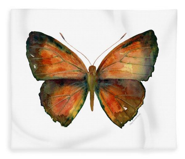 56 Copper Jewel Butterfly Fleece Blanket