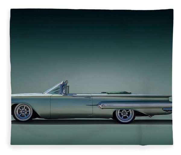 60 Impala Convertible Fleece Blanket