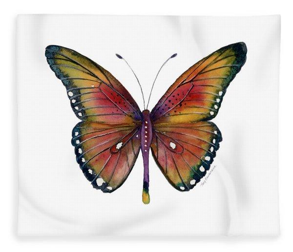 66 Spotted Wing Butterfly Fleece Blanket