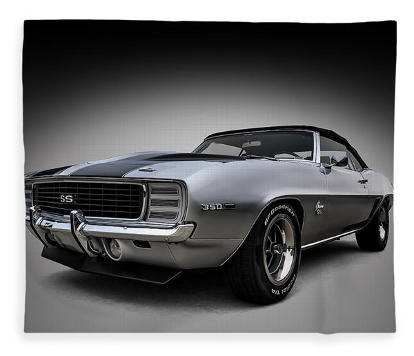 '69 Camaro Ss Fleece Blanket