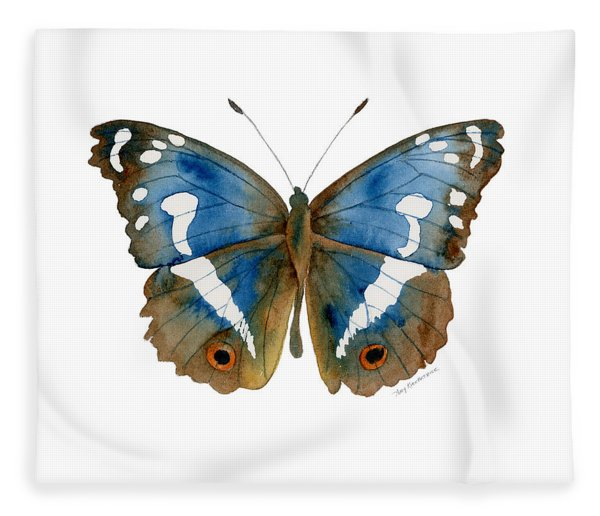 78 Apatura Iris Butterfly Fleece Blanket
