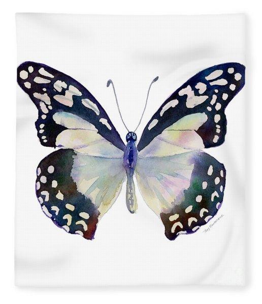 90 Angola White Lady Butterfly Fleece Blanket
