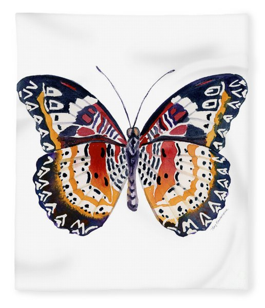 94 Lacewing Butterfly Fleece Blanket