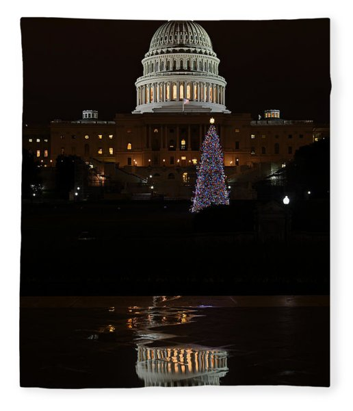 A Capitol Reflection Fleece Blanket
