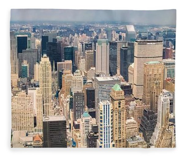 A Cloudy Day In New York City   Fleece Blanket