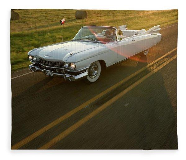 A Couple Take A Late Evening Drive Fleece Blanket