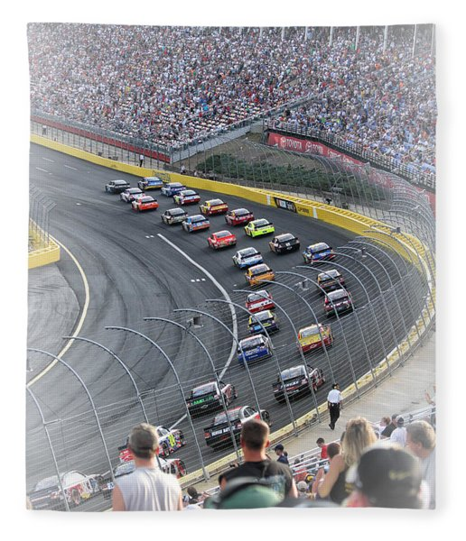 A Day At The Racetrack Fleece Blanket