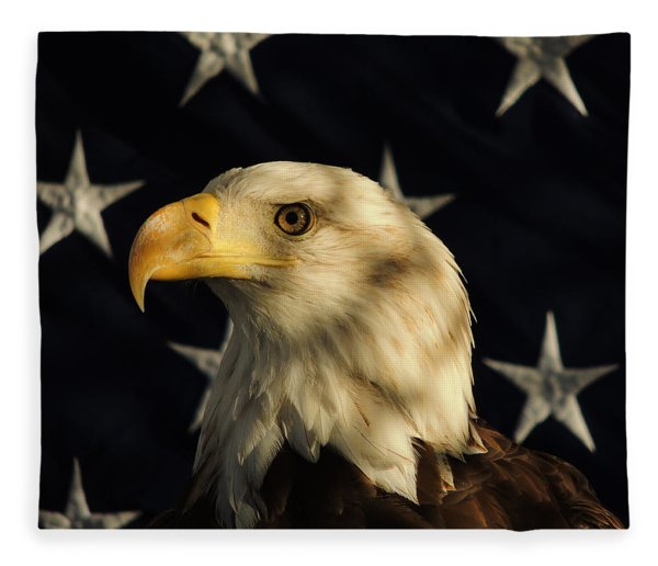 Fleece Blanket featuring the photograph A Patriot by Raymond Salani III