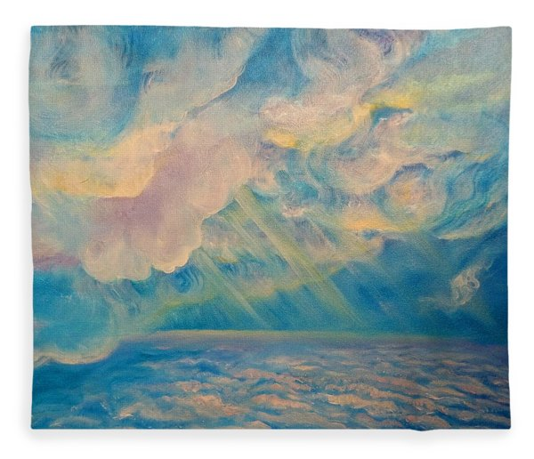 Above The Sun Splashed Clouds Fleece Blanket