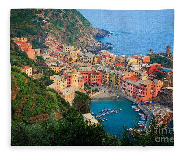 Above Vernazza Fleece Blanket