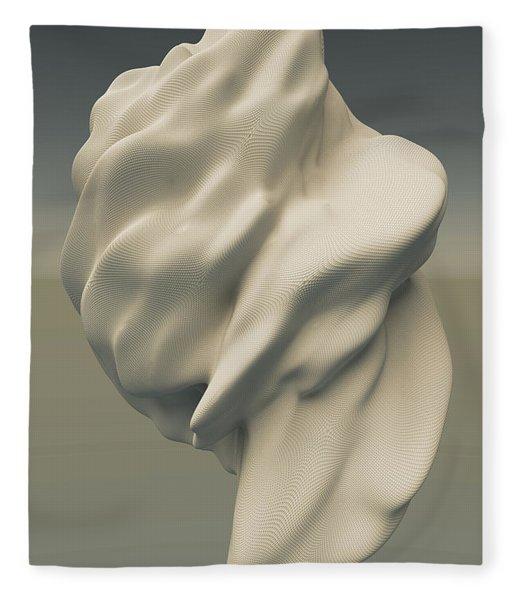 Fleece Blanket featuring the digital art Abstract Form 051114 by Matt Lindley