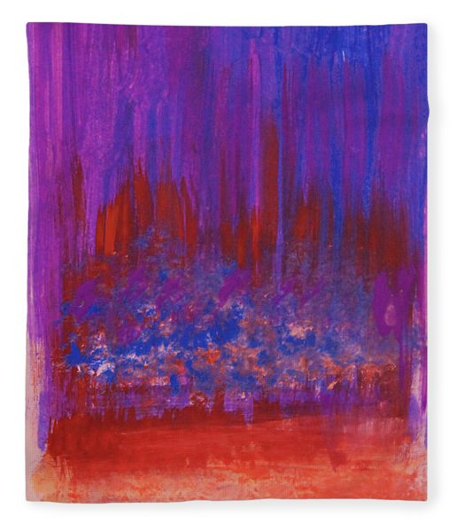 Abstract Purple And City Lights Fleece Blanket