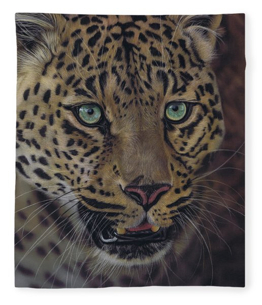 After Dark All Cats Are Leopards Fleece Blanket