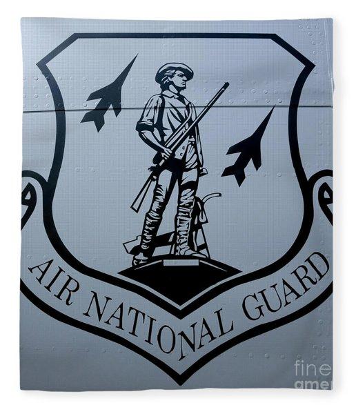 Air National Guard Shield Fleece Blanket