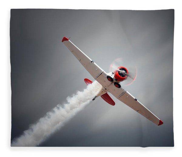 Aircraft In Flight Fleece Blanket