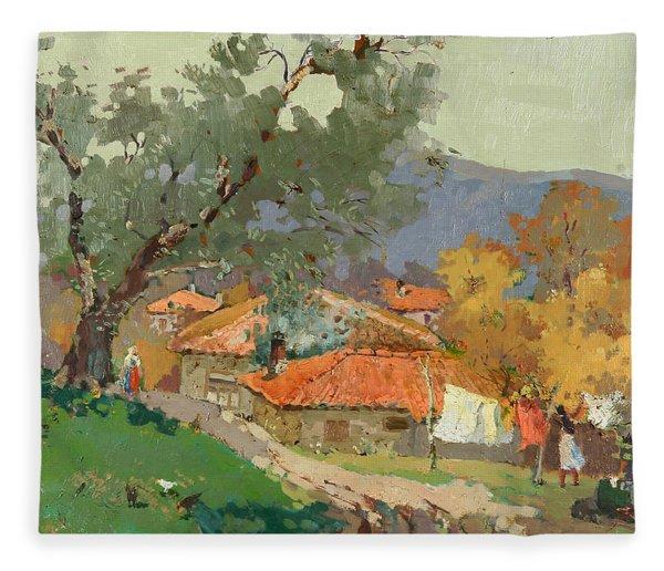 Albanian Countryside Fleece Blanket