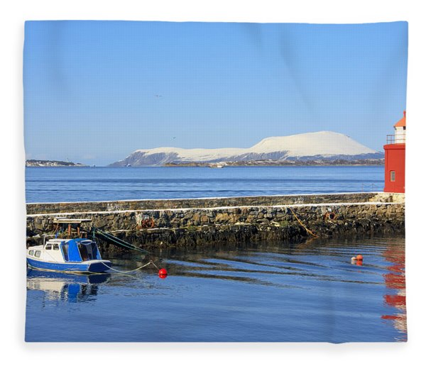 Alesund Lighthouse Fleece Blanket