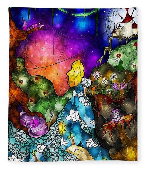 Alice's Wonderland Fleece Blanket