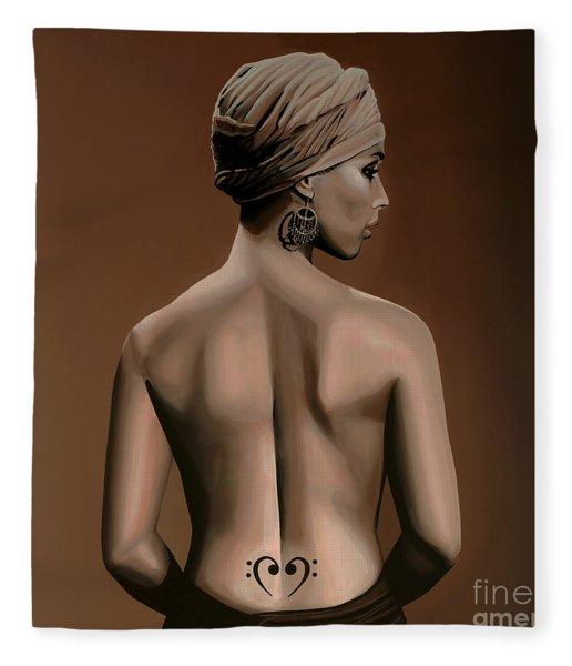 Alicia Keys  Fleece Blanket