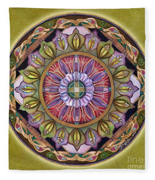 All Is Well Mandala Fleece Blanket