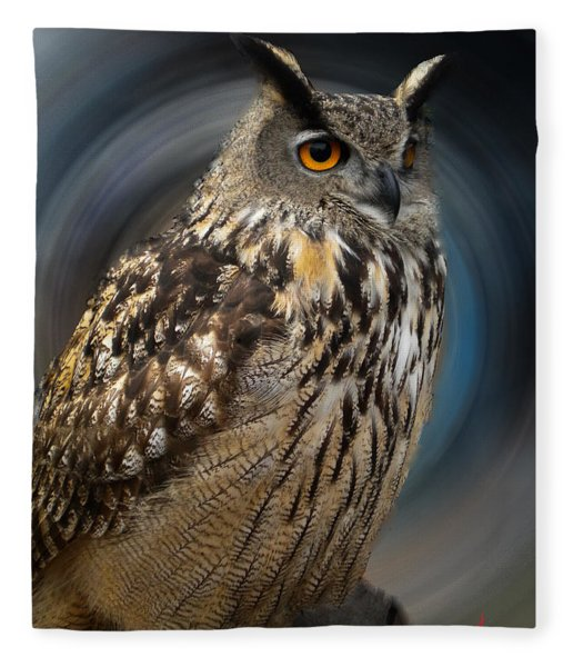 Fleece Blanket featuring the photograph Almeria Wise Owl Living In Spain  by Colette V Hera  Guggenheim