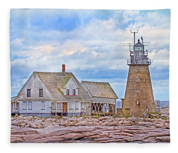 Alone On The Rocks Fleece Blanket