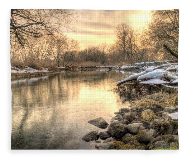 Fleece Blanket featuring the photograph Along The Thames River  by Garvin Hunter