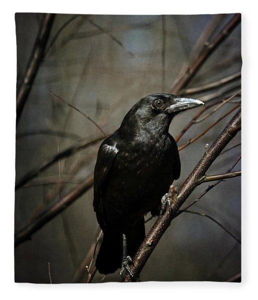 American Crow Fleece Blanket