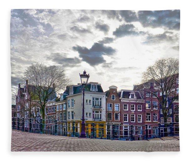 Amsterdam Bridges Fleece Blanket