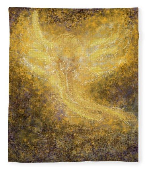An Angel I Know Fleece Blanket