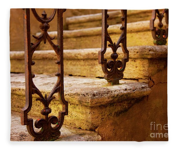 Fleece Blanket featuring the photograph Ancient Steps by Brian Jannsen