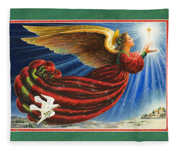 Angel Of The Star Fleece Blanket