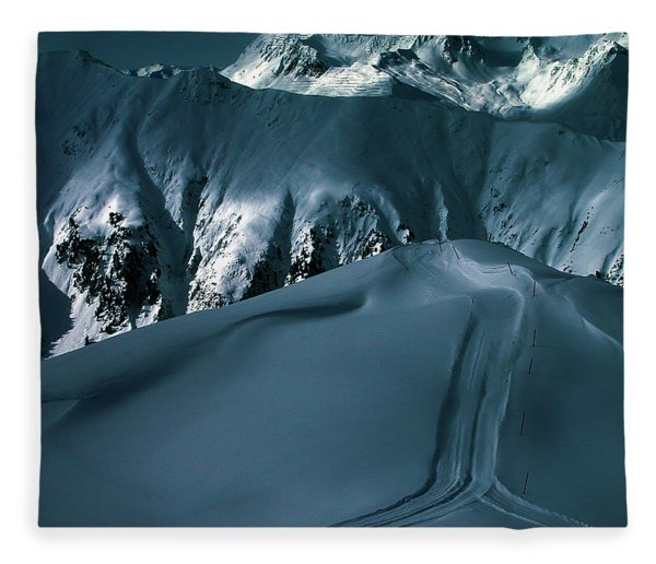 Fleece Blanket featuring the photograph Another Late Day In The Mountains  by Colette V Hera  Guggenheim