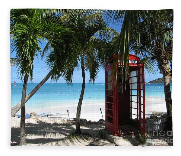 Antigua - Phone Booth Fleece Blanket
